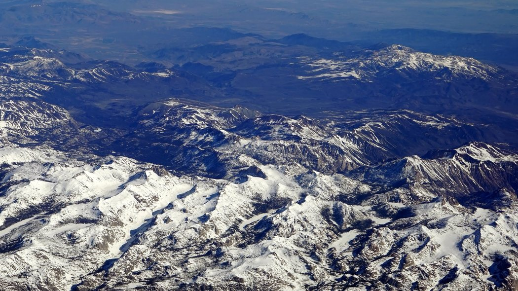 Snowpack in the Sierra Nevada, April 2016.