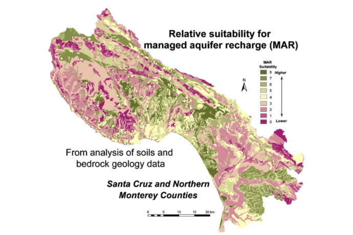 Managed aquifer recharge suitability in Santa Cruz and Monterey Co.