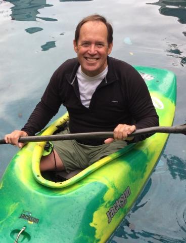 Jeff Mount in kayak
